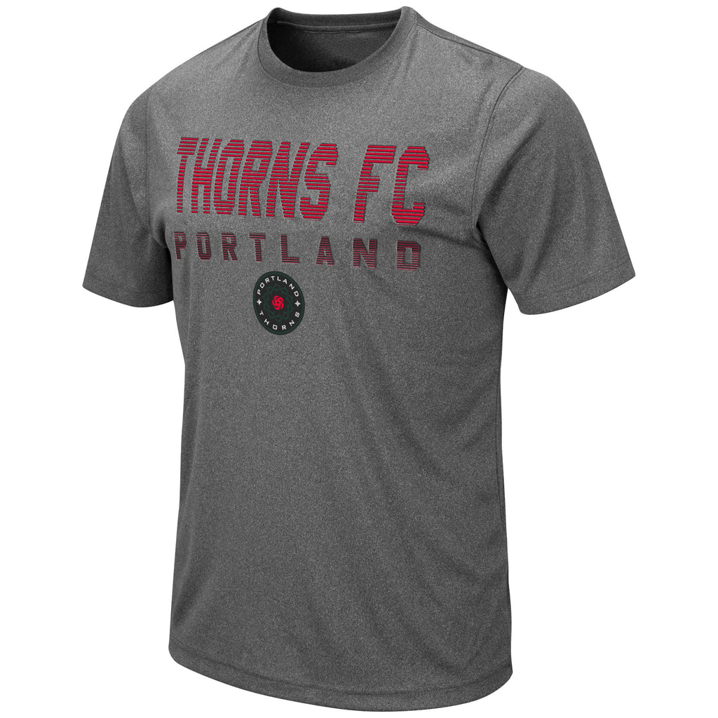 Portland Thorns Raised Print Tee - Grey - FINAL SALE