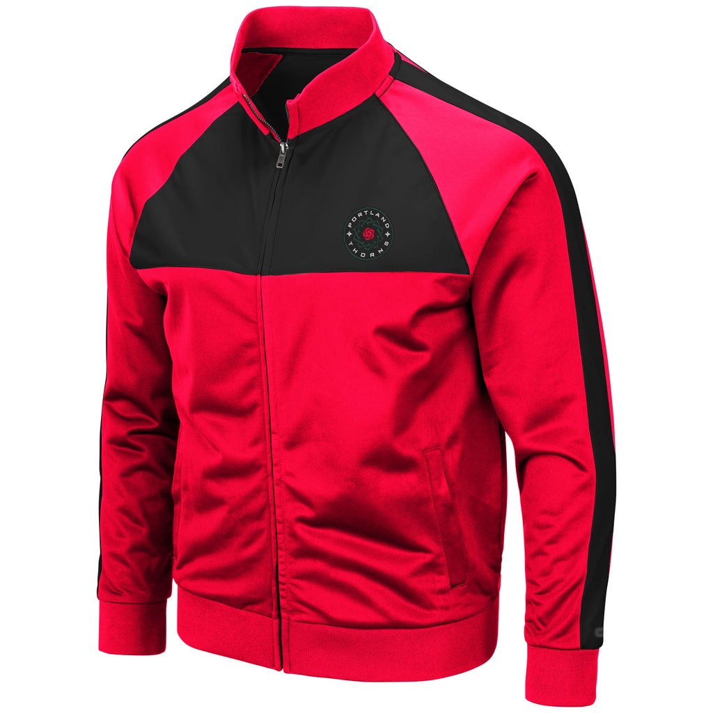 PORTLAND THORNS FC LONG SLEEVE OLD SCHOOL TRACK JACKET