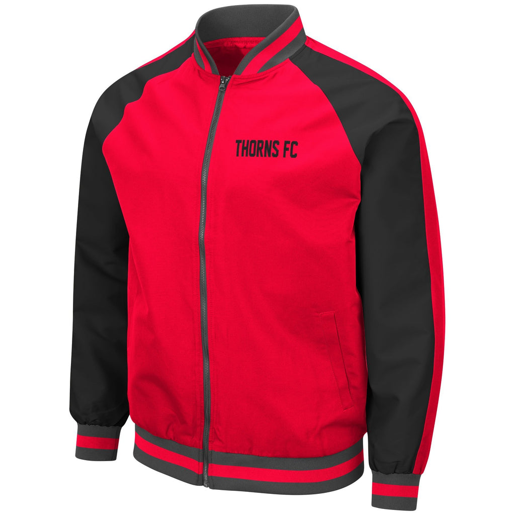 PORTLAND THORNS FC LONG SLEEVE KENT BOMBER JACKET