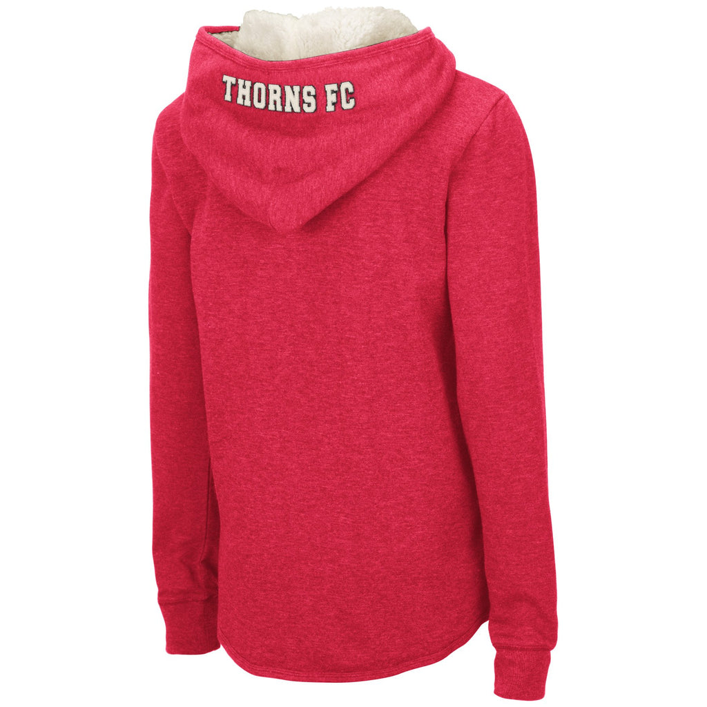 PORTLAND THORNS FC WOMEN'S FUR LINED HOOD