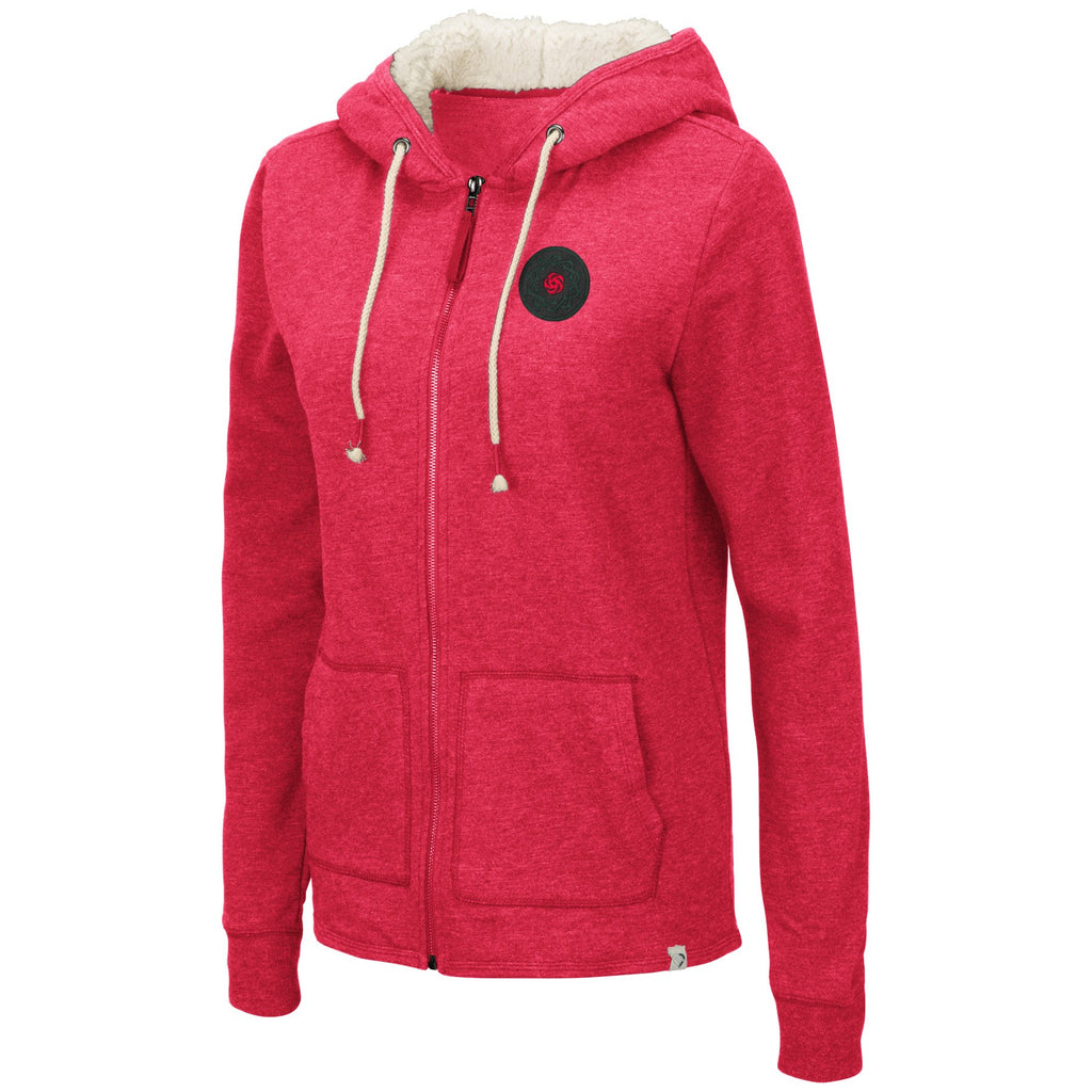 Portland Thorns Women's Faux Fur Lined Hoody - Red