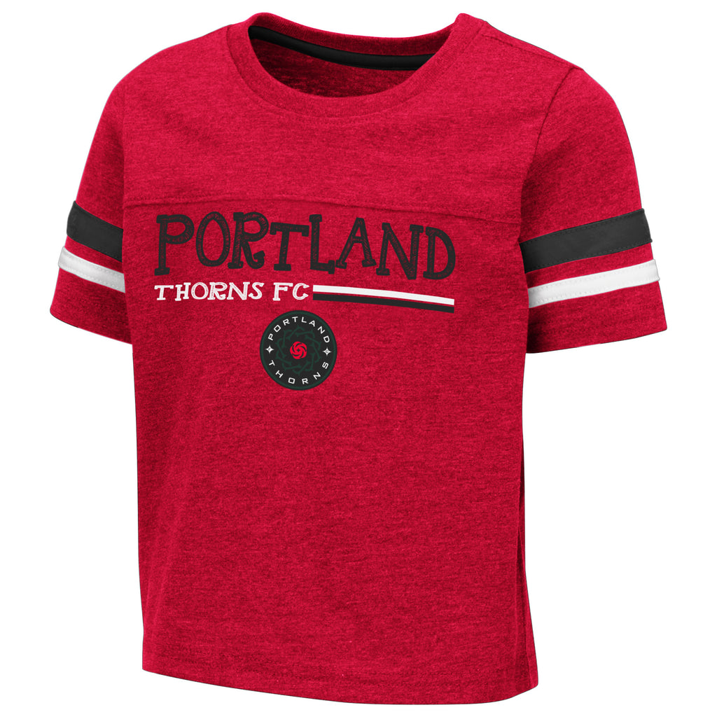 Portland Thorns Toddler Striped Raglan Tee  - Red