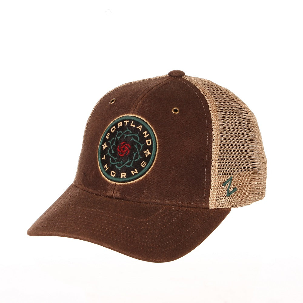 Portland Thorns FC Mesa Mesh Snapback - Brown