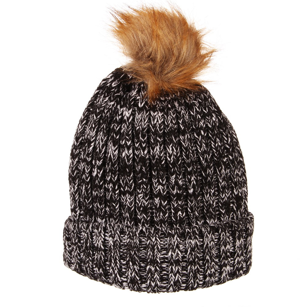 Portland Thorns Gracie Fur Pom Knit - Charcoal