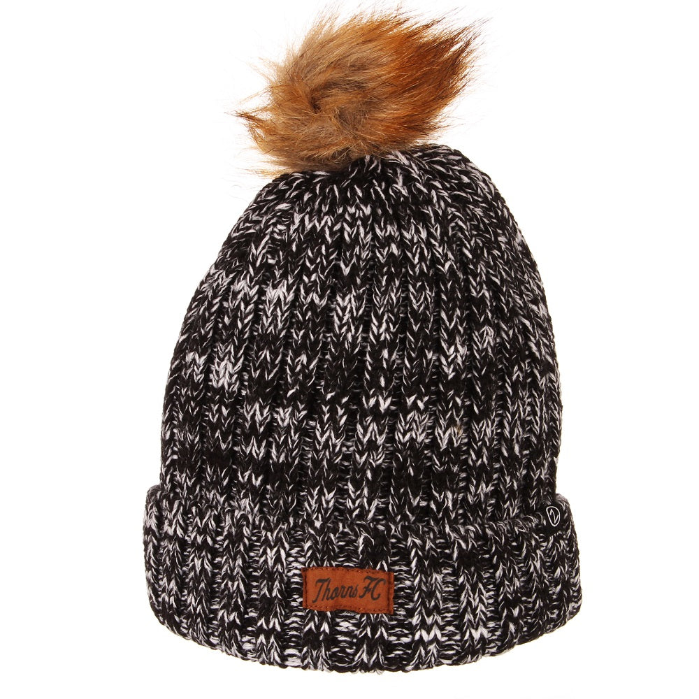 PORTLAND THORNS FC GRACIE FUR POM KNIT BEANIE
