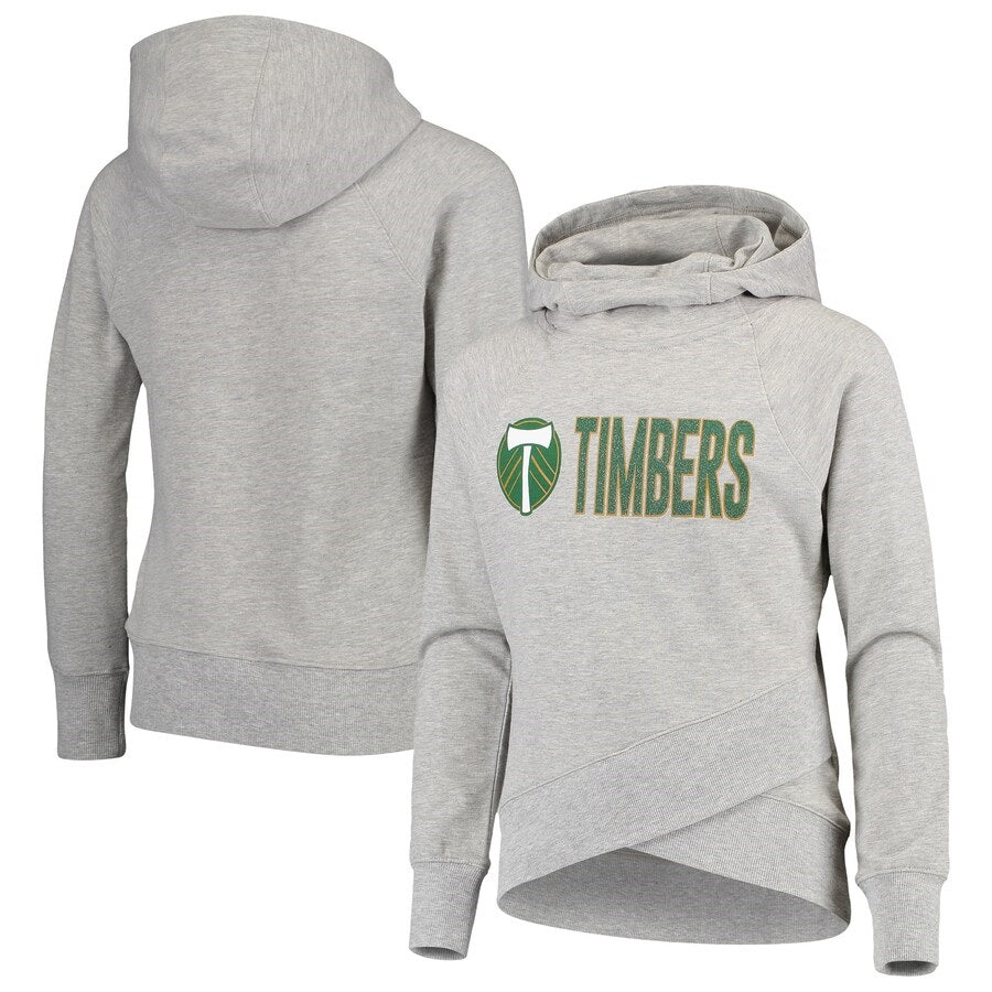 PORTLAND TIMBERS FC YOUTH GIRL'S LONG SLEEVE FUNNEL HOODIE