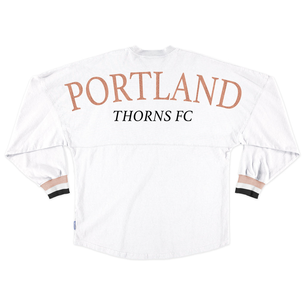 PORTLAND THORNS FC SHORT SLEEVE STRIPE CUFF SPIRIT JERSEY