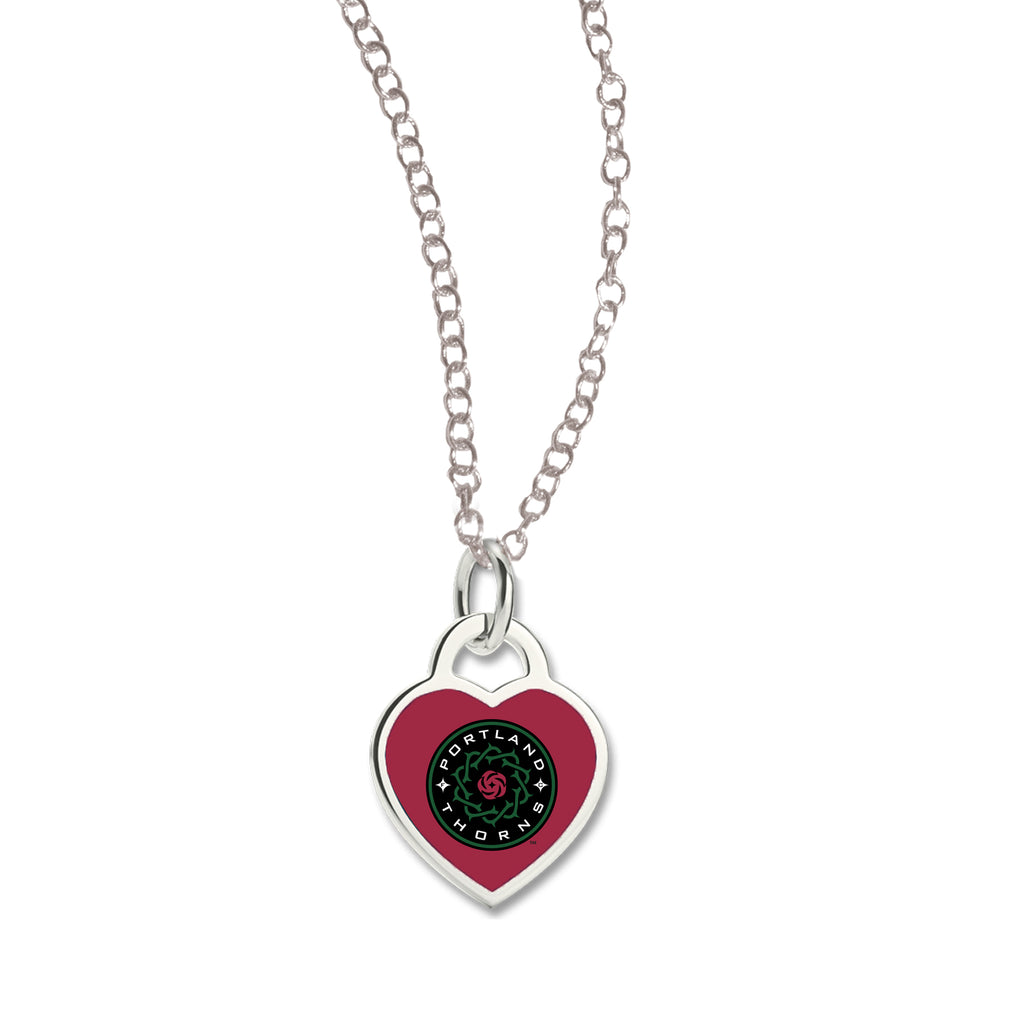 Portland Thorns FC Heart Necklace - Red