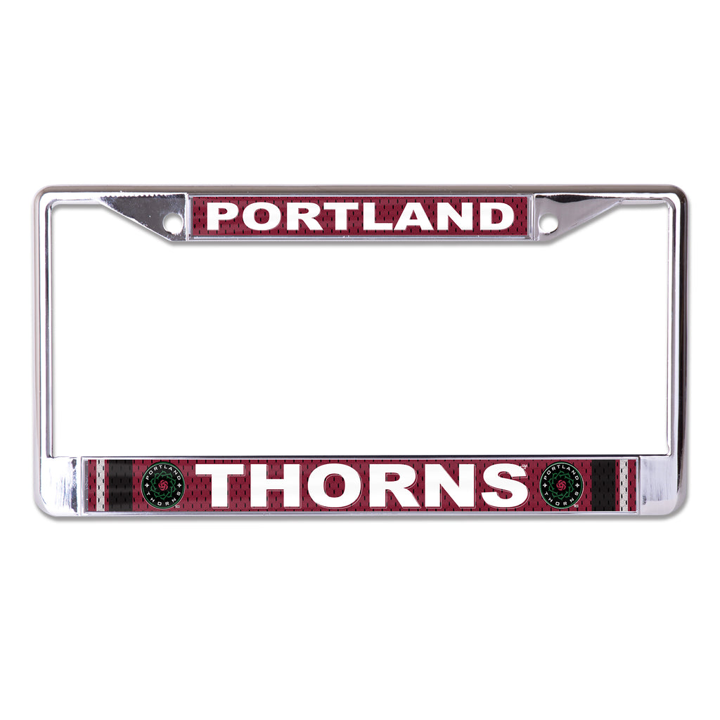 PORTLAND THORNS FC PERF DESIGN METAL LICENSE PLATE