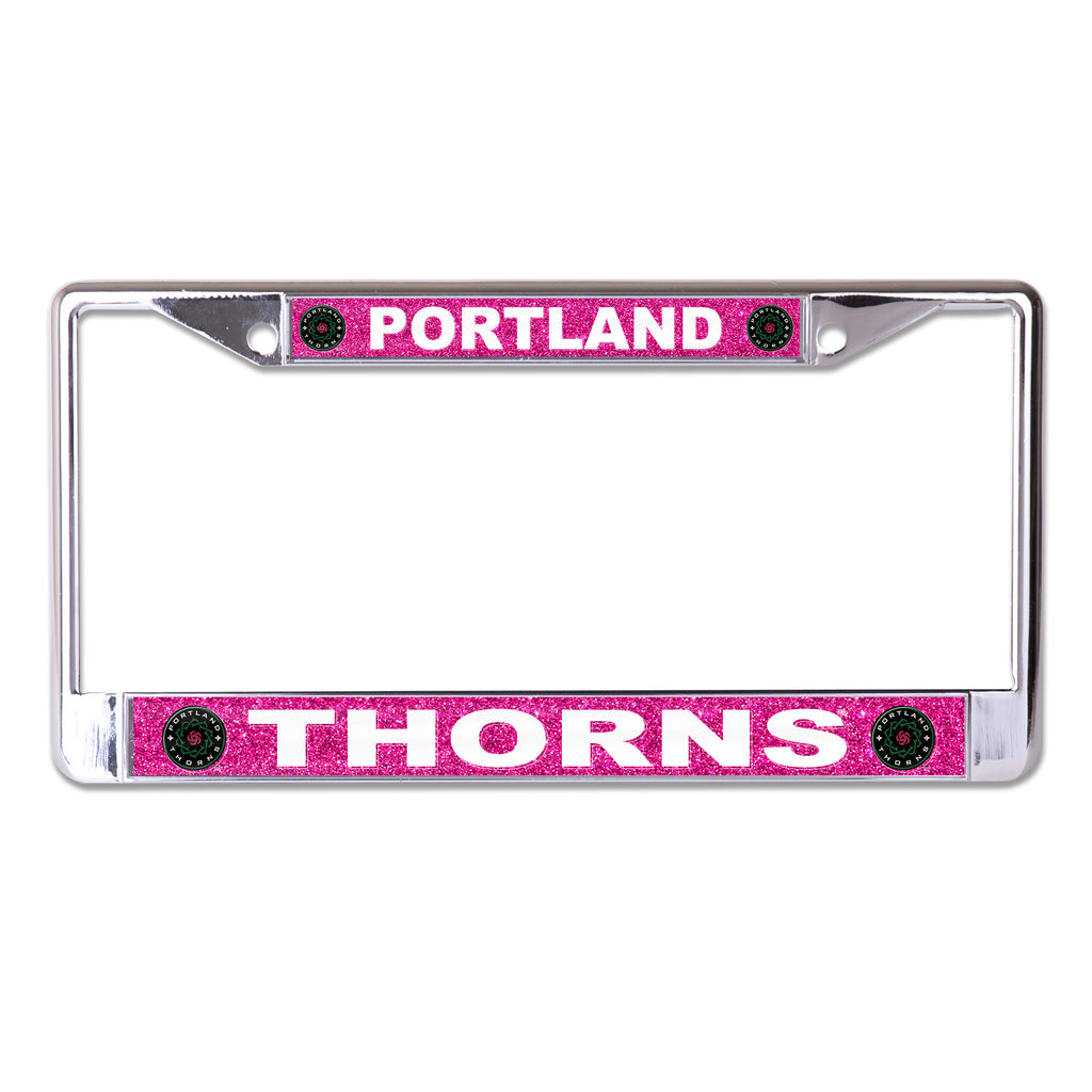 PORTLAND THORNS FC METAL GLITTER LICENSE PLATE
