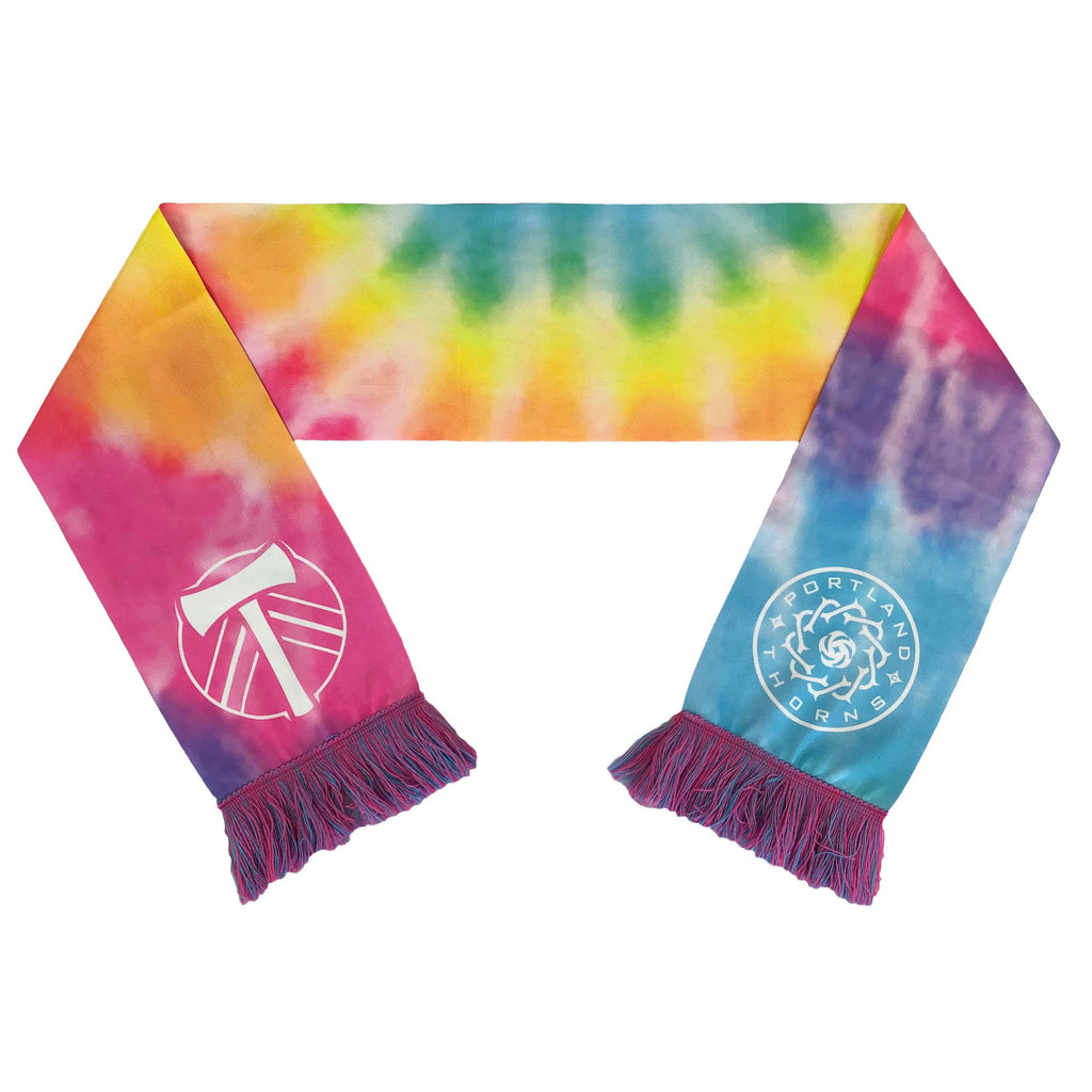 Portland Co-Branded Tie Dye Scarf - Rainbow