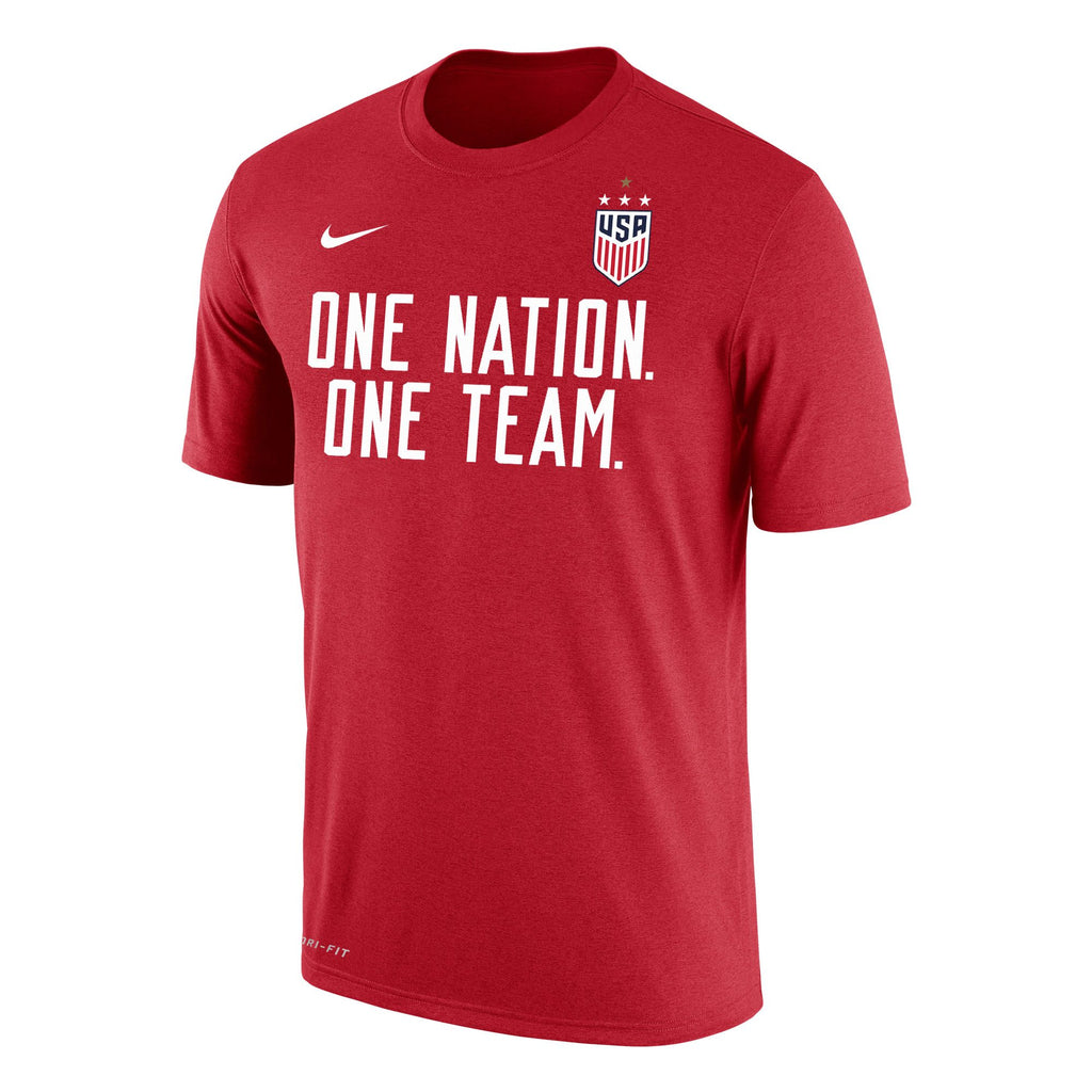 US Women's National Team One Nation Tee - Red