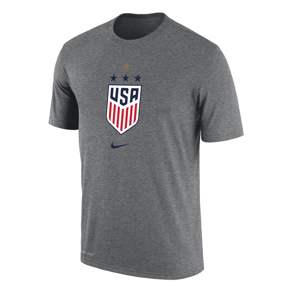 US Women's National Team Logo Tee - Grey