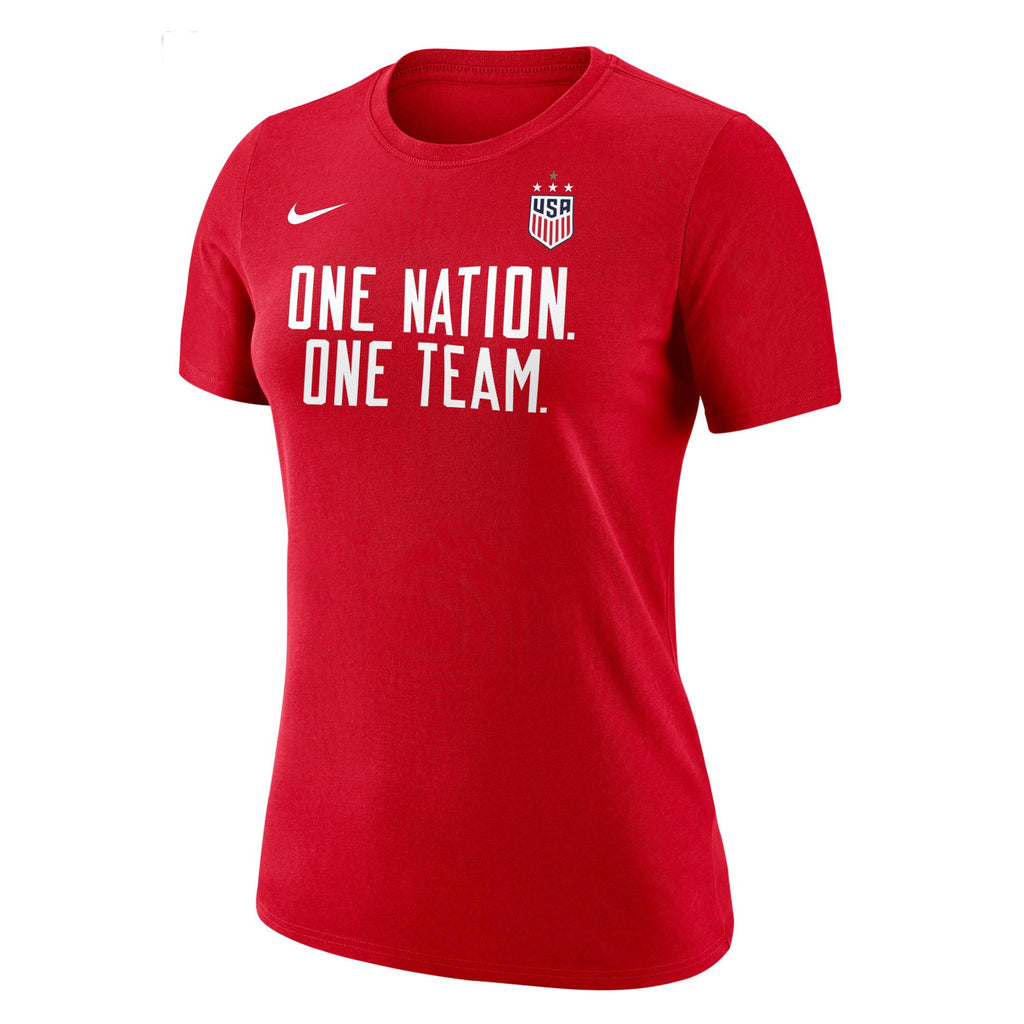 US Women's National Team Women's One Nation Tee - Red
