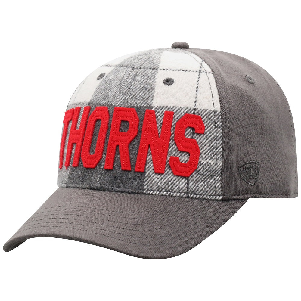 PORTLAND THORNS FC PLAID CHARCOAL ADJUSTABLE