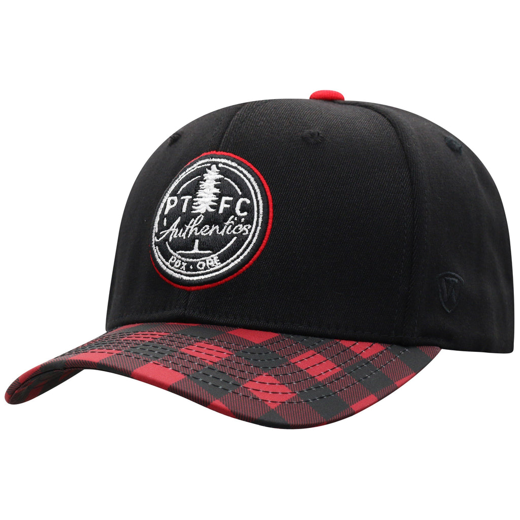 Portland PTFC Authentics Plaid Adjustable Hat - Black