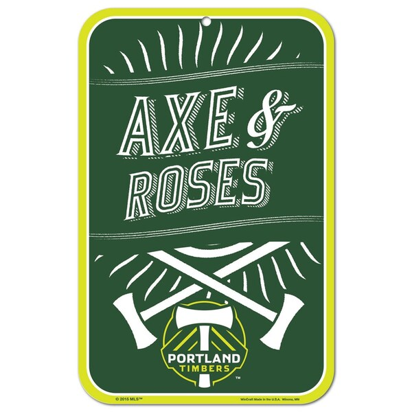 PORTLAND TIMBERS FC AXE & ROSE 11X17 SIGN