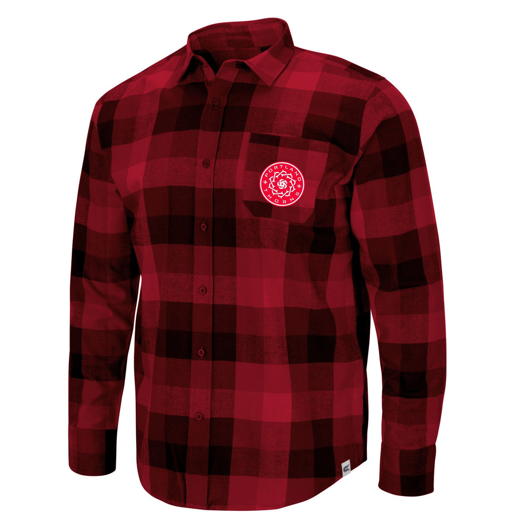 Portland Thorns FC Flannel Pocket Shirt - Red/Black