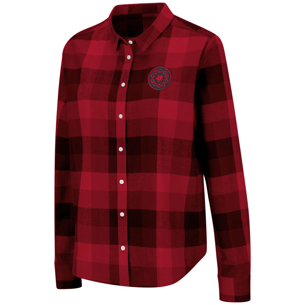 Portland Thorns FC Women's Flannel Shirt - Red/Black