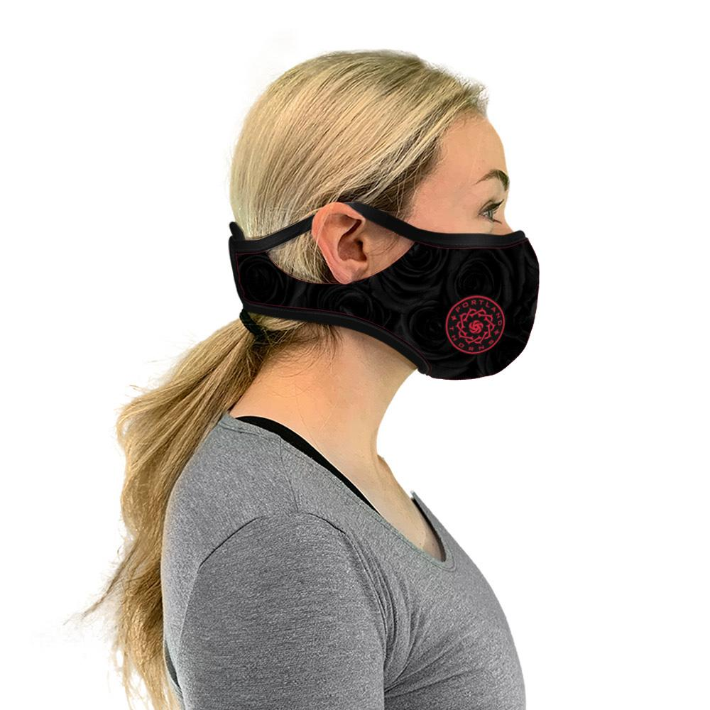 Portland Thorns FC Jersey Inspired Velcro Mask - Black