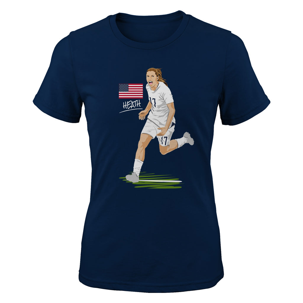 PORTLAND THORNS FC WWC HEATH GOAL SHORT SLEEVE TEE
