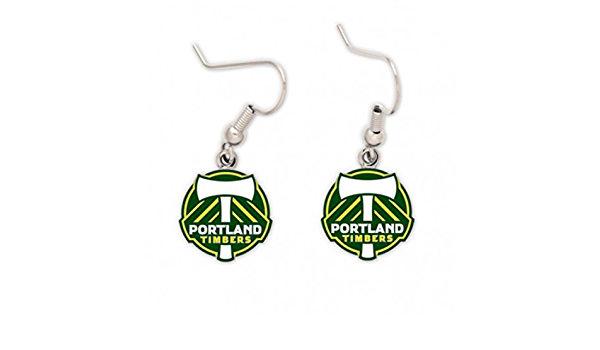 PORTLAND TIMBERS FC PRIMARY J-HOOK EARRINGS