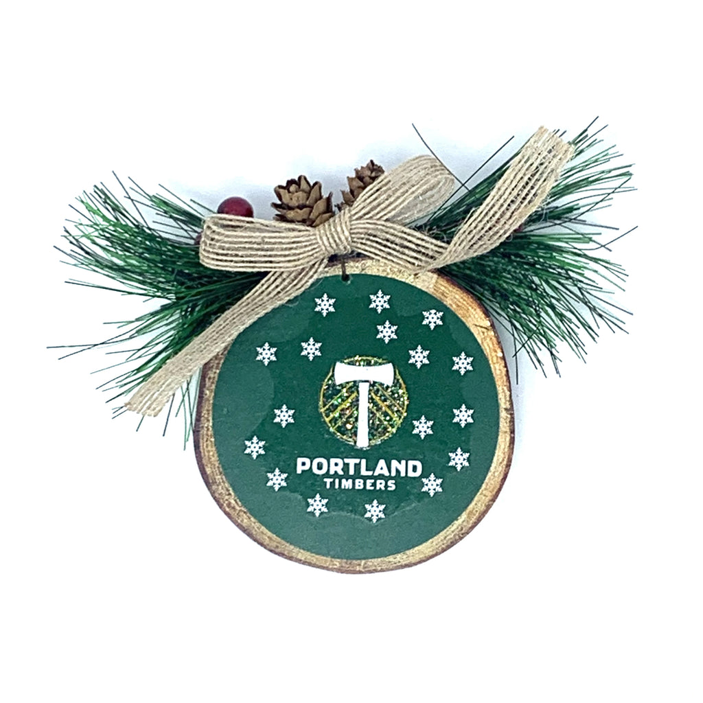 PORTLAND TIMBERS FC LOG SLICE ORNAMENT