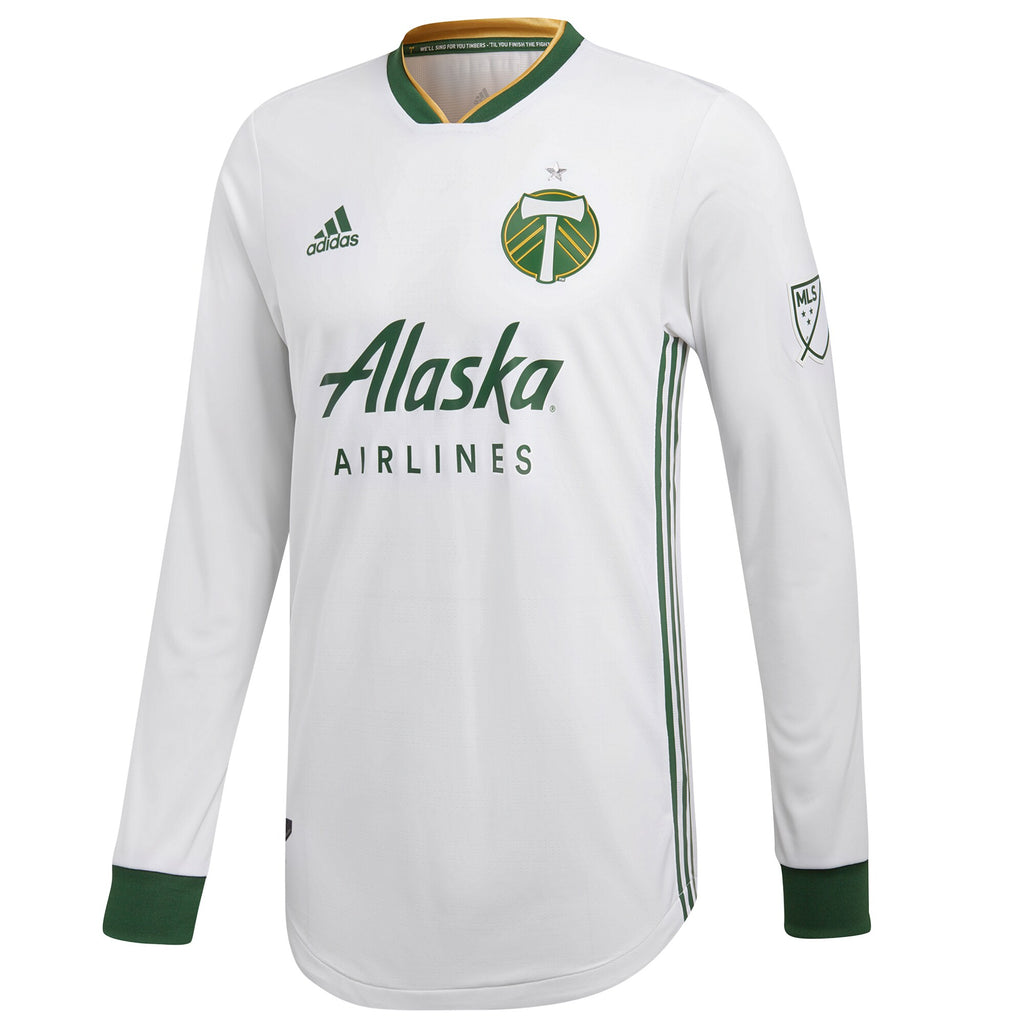 PORTLAND TIMBERS FC 2018 MEN'S LONG SLEEVE AUTHENTIC SECONDARY JERSEY