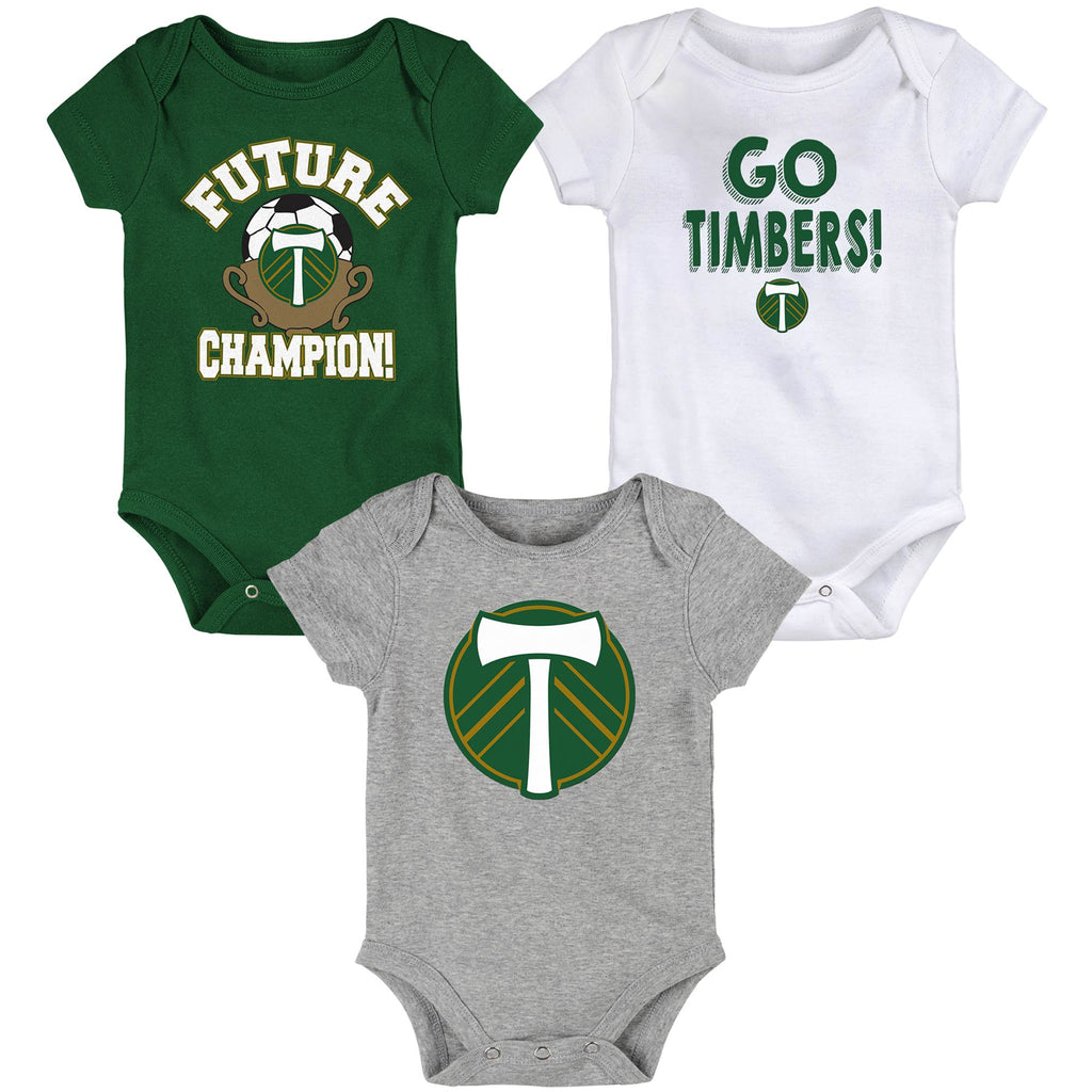 "PORTLAND TIMBERS FC INFANT & TODDLER "" BORN TO WIN"" 3-PACK SET"