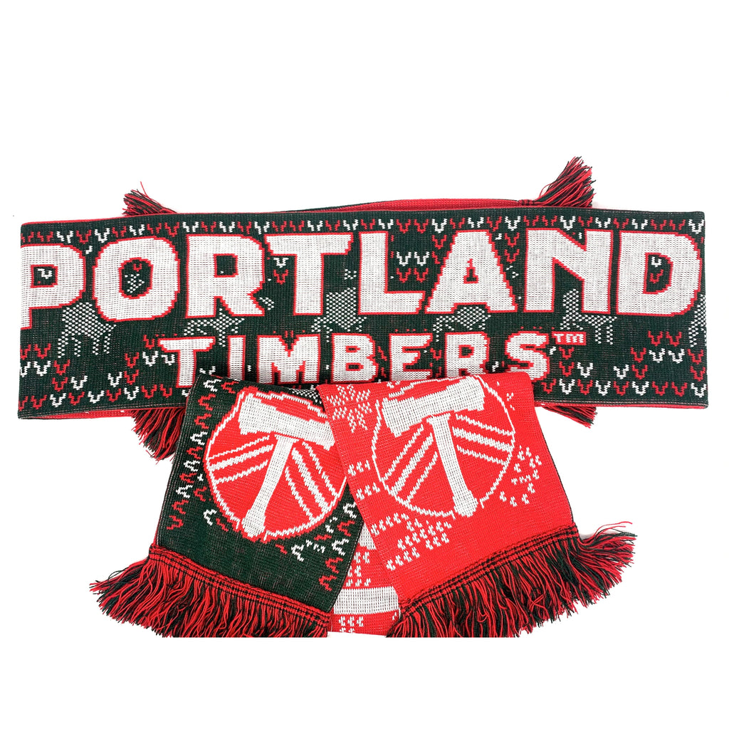 PORTLAND TIMBERS FC UGLY HOLIDAY SCARF