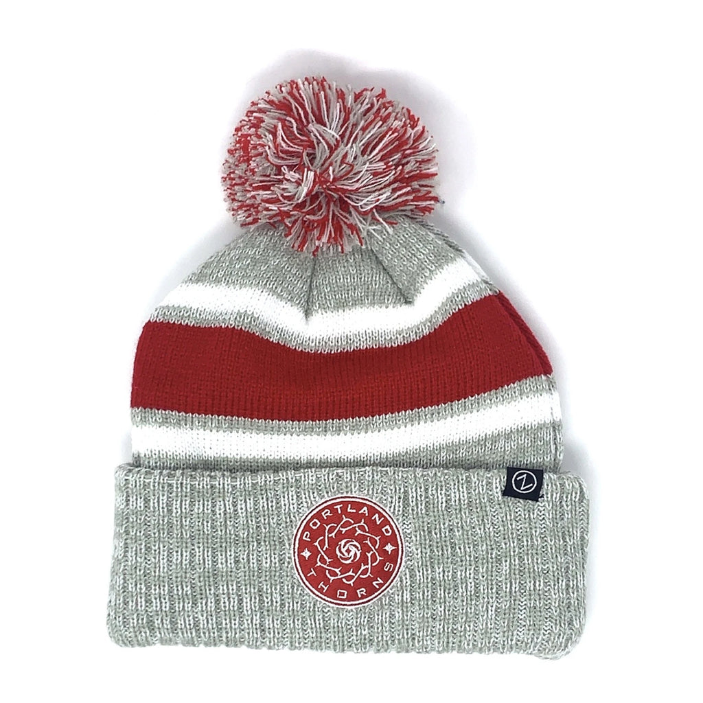 PORTLAND THORNS FC DENVER CUFFED POM KNIT BEANIE