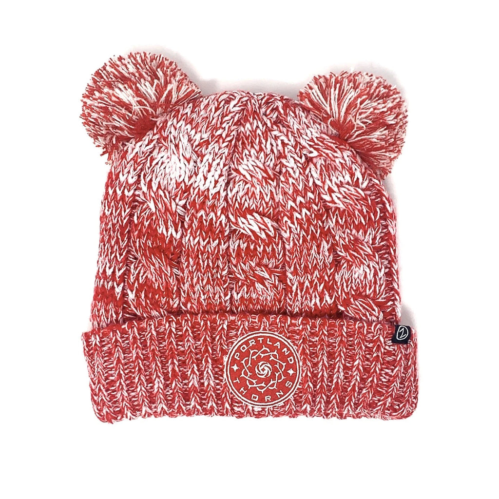 PORTLAND THORNS FC SPARKLE DUO POM KNIT BEANIE