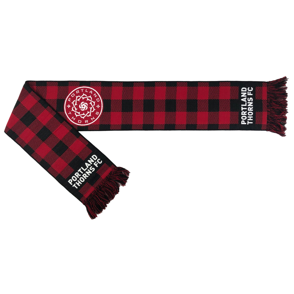PORTLAND THORNS FC FLANNEL CHECK SCARF