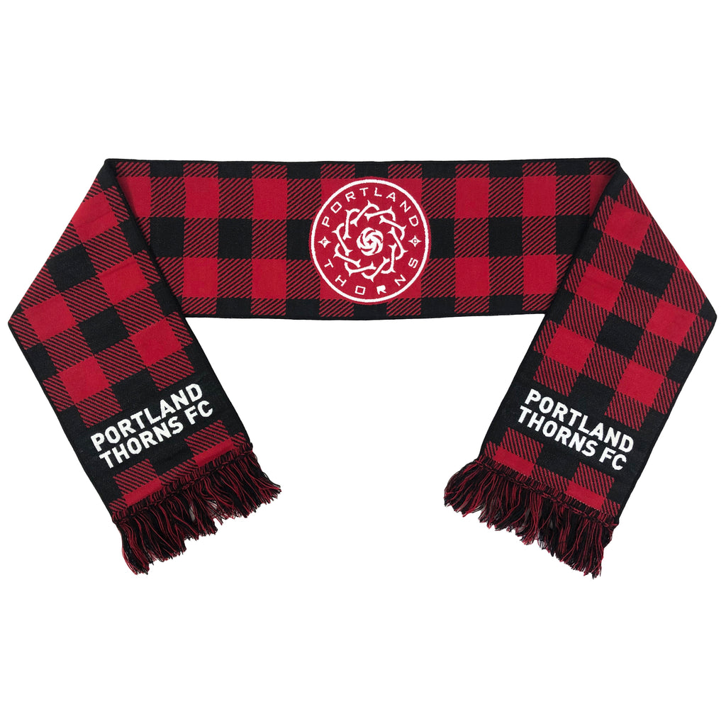 Portland Thorns FC Flannel Check Scarf - Red
