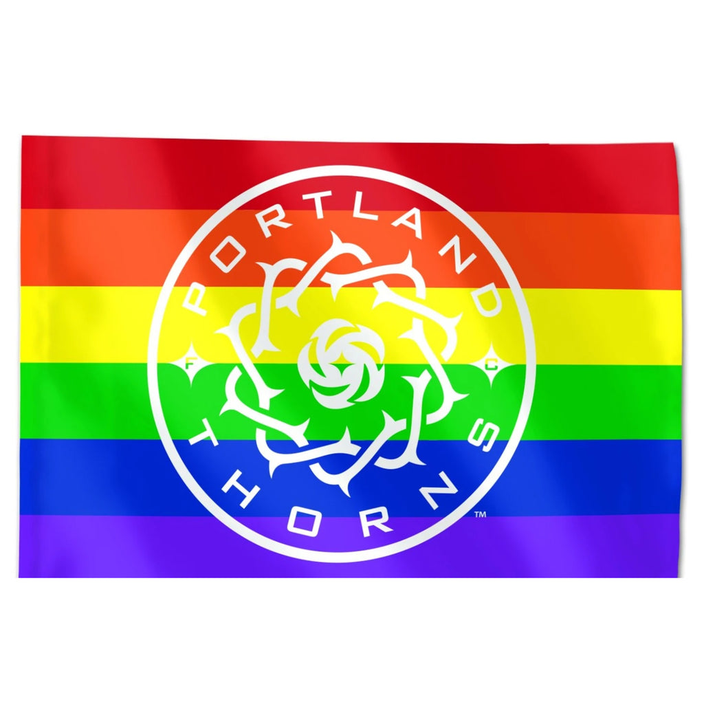 PORTLAND THORNS FC 3X5 PRIDE FLAG