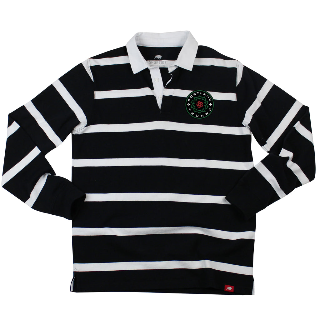 PORTLAND THORNS FC LONG SLEEVE RUGBY SHIRT