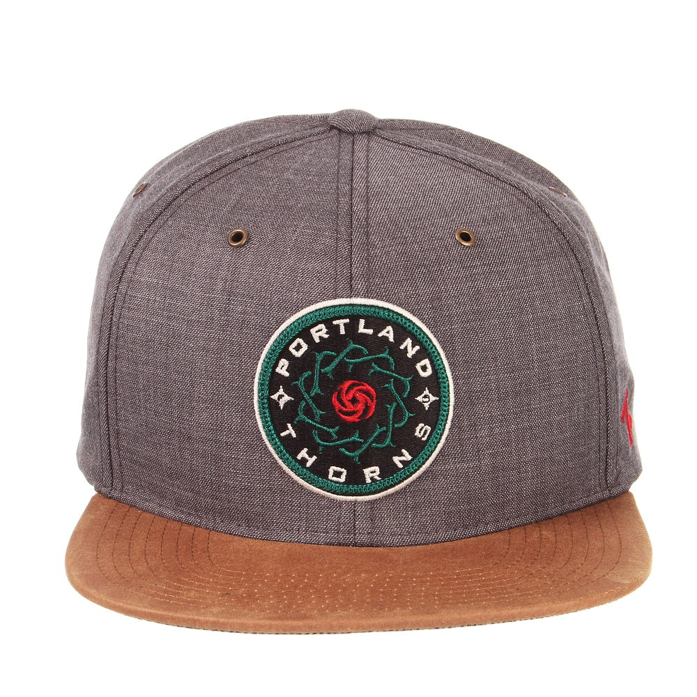 PORTLAND THORNS FC MONARCH FLAT BRIM HAT