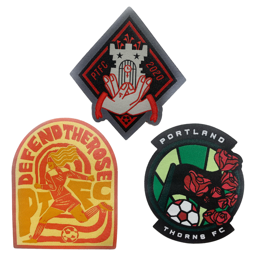 PORTLAND THORNS FC 3-PC PATCH SET