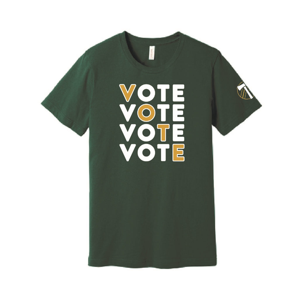 "PORTLAND TIMBERS FC 2020 ""VOTE"" SHORT SLEEVE TEE - PREORDER, SHIPS 11/6/20"