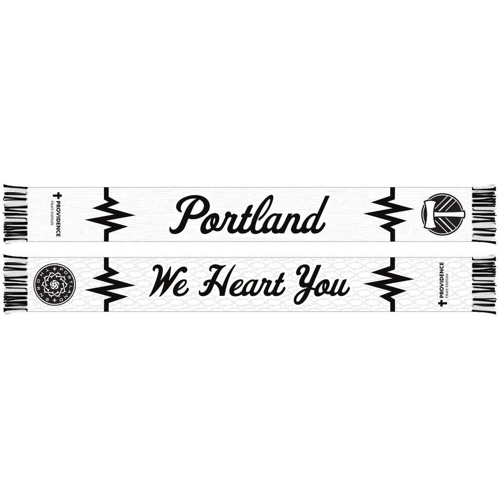 Portland Co-Branded 2019 Providence Black & White Ball Scarf - White