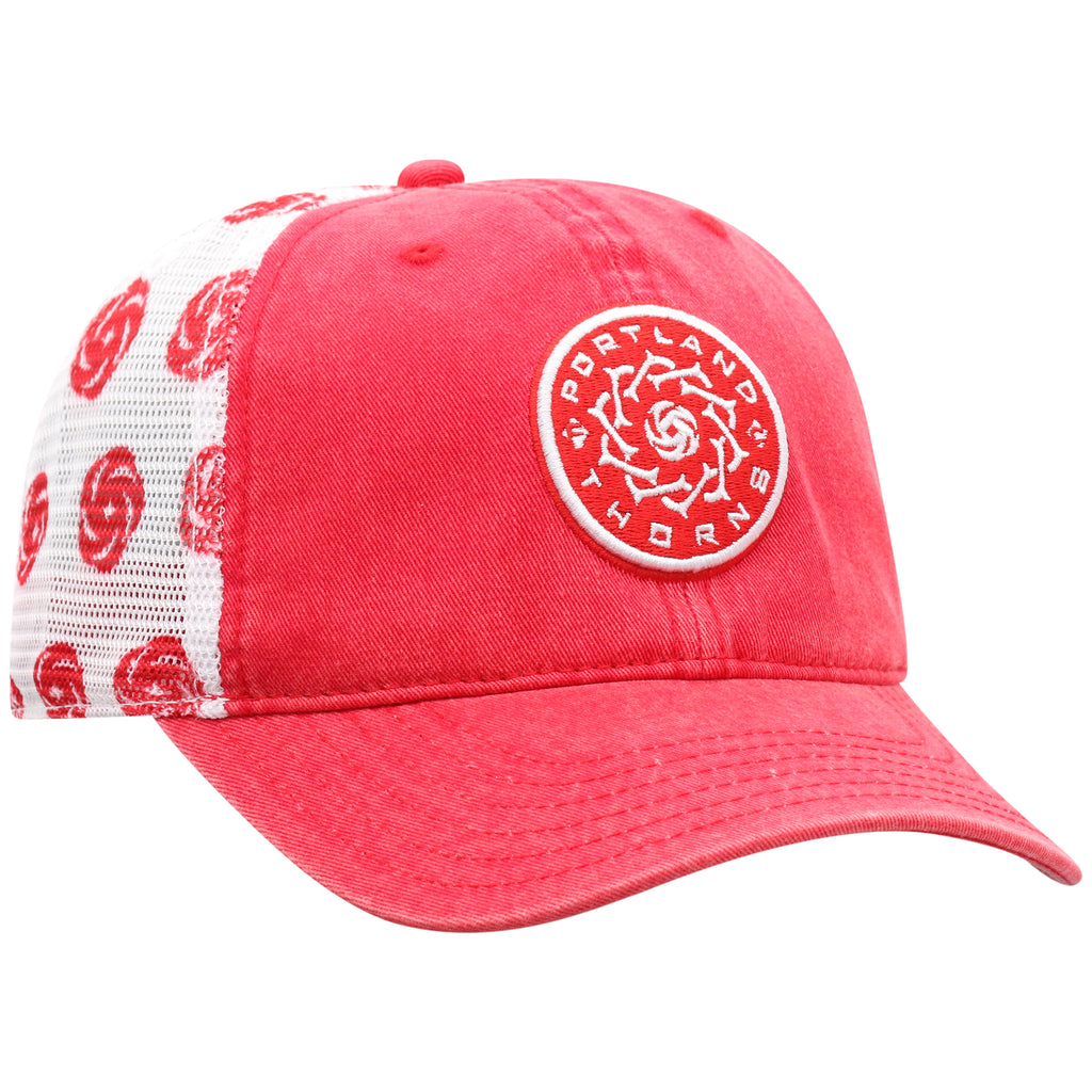 PORTLAND THORNS FC WOMEN'S RACER MESH ADJUSTABLE