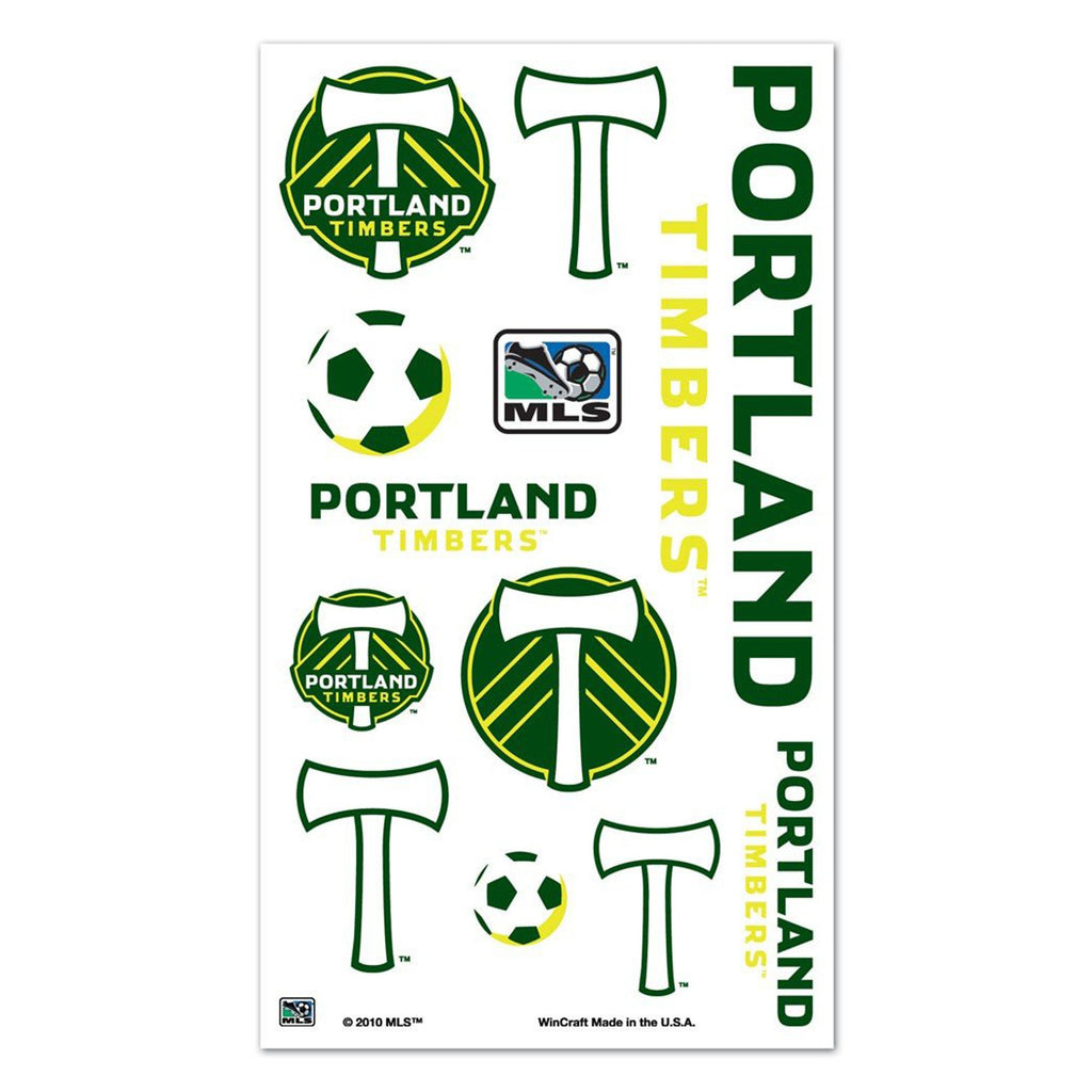 PORTLAND TIMBERS FC TATOO SHEET 4X7
