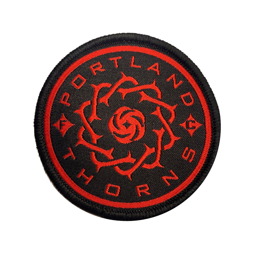 Portland Thorns FC Logo Patch - Red/Black