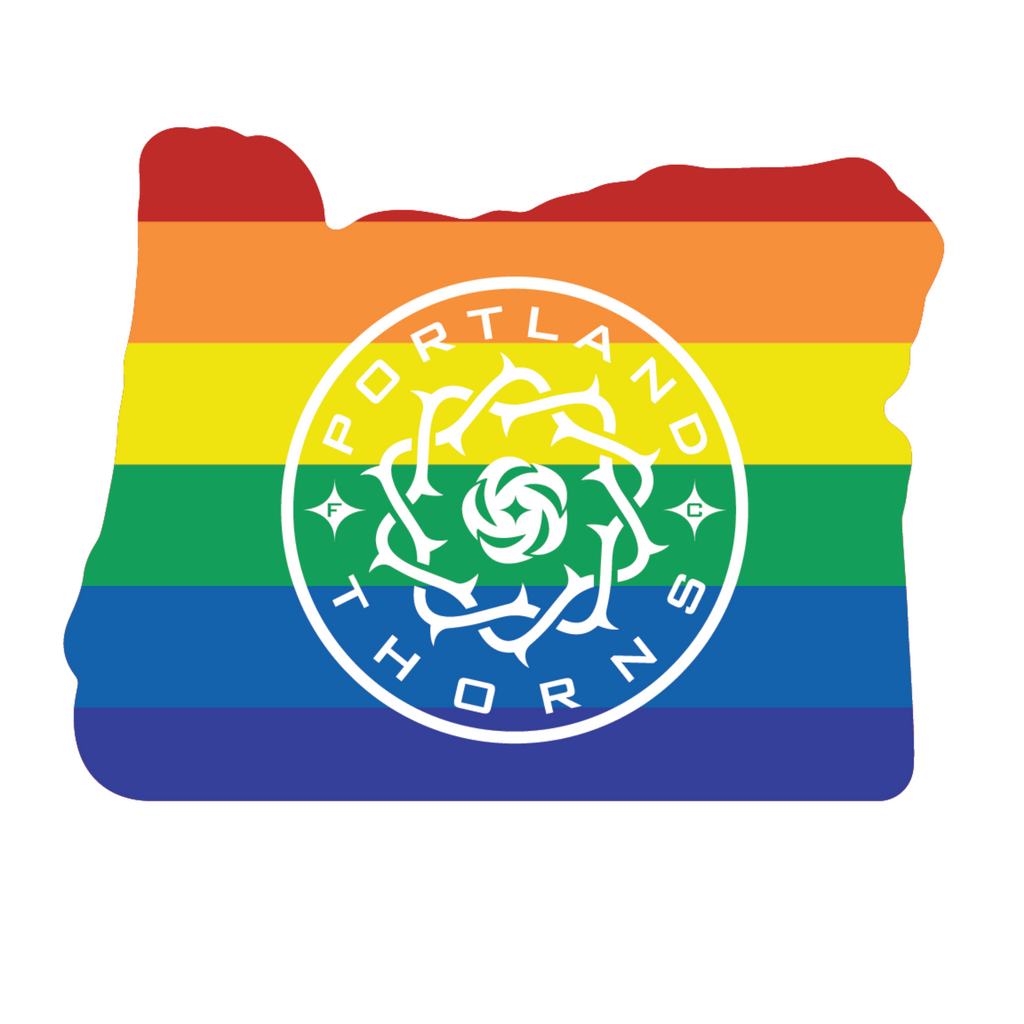 PORTLAND THORNS FC THORNS PRIDE STATE DECAL