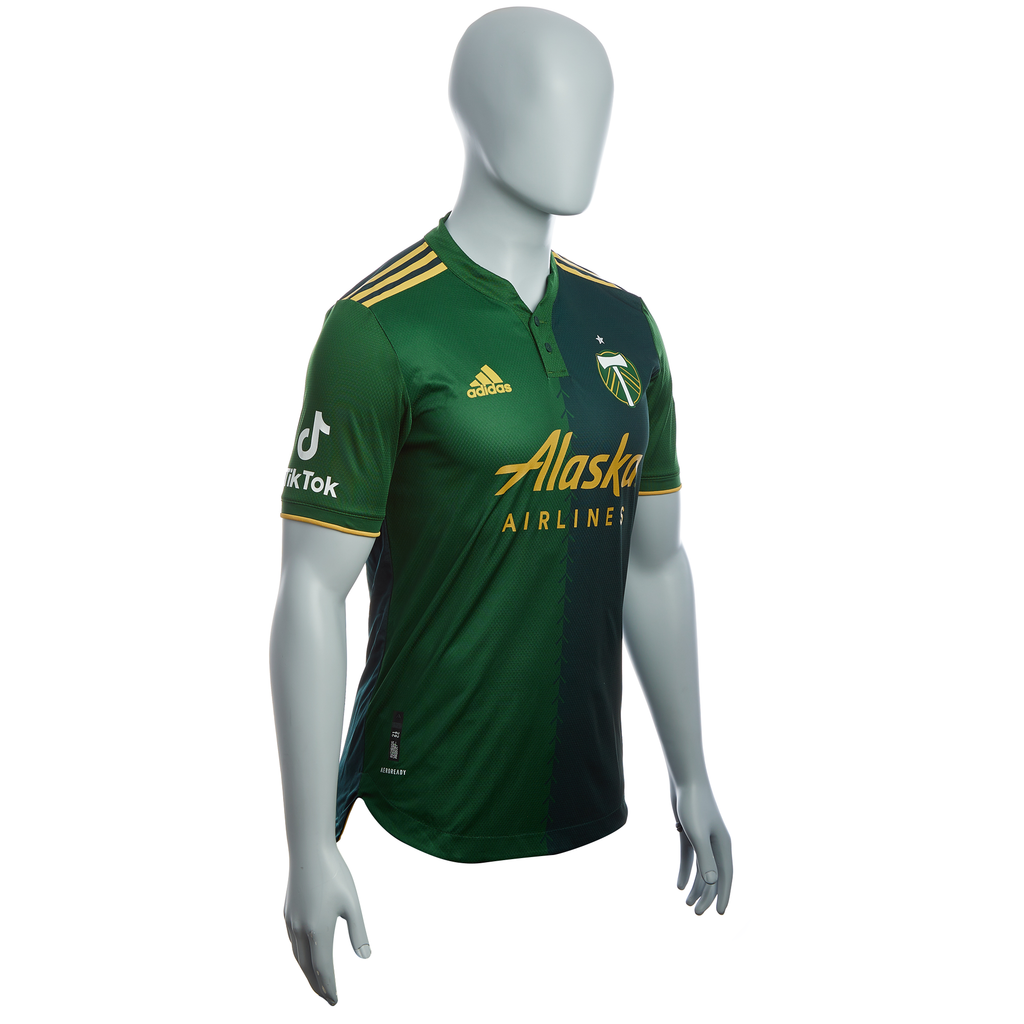 PORTLAND TIMBERS FC 2021-22 MEN'S AUTHENTIC PRIMARY JERSEY With TikTok Logo