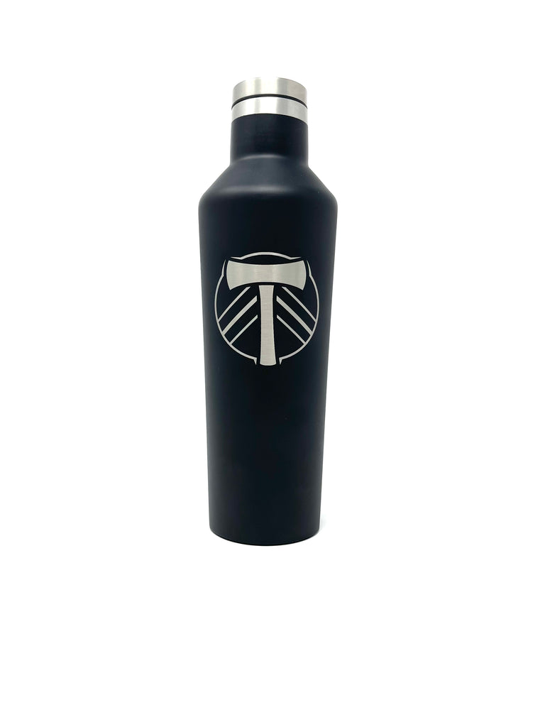 PORTLAND TIMBERS FC 16 OZ MATTE BLACK CANTEEN
