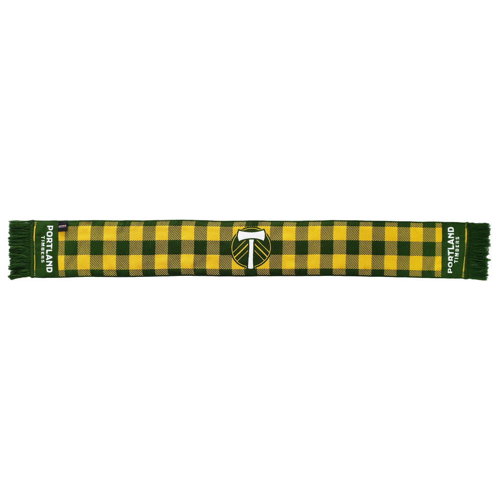 PORTLAND TIMBERS FC FLANNEL CHECK SCARF