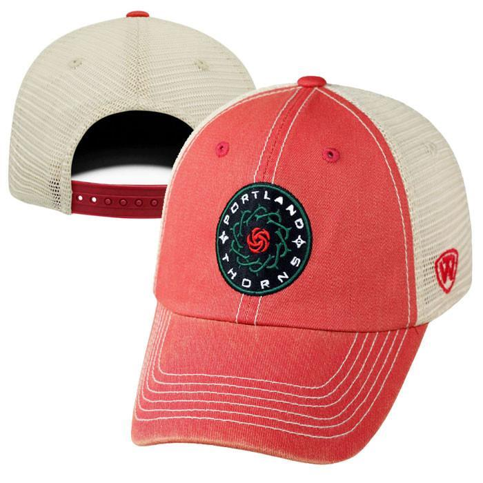 PORTLAND THORNS FC BASIC RED MESH BACK ADJUSTABLE HAT