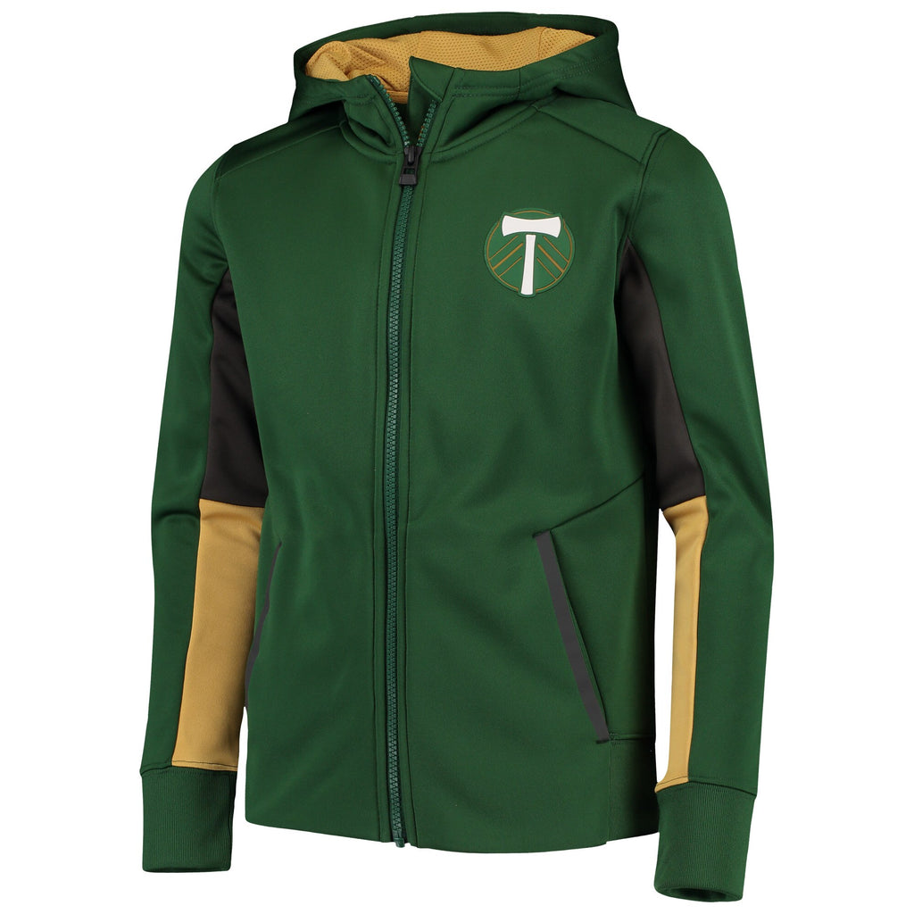 PORTLAND TIMBERS FC YOUTH LONG SLEEVE CLEAR BLOCK JACKET