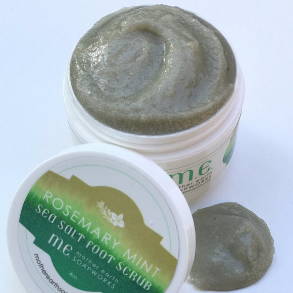 Rosemary Mint Sea Salt Foot Scrub